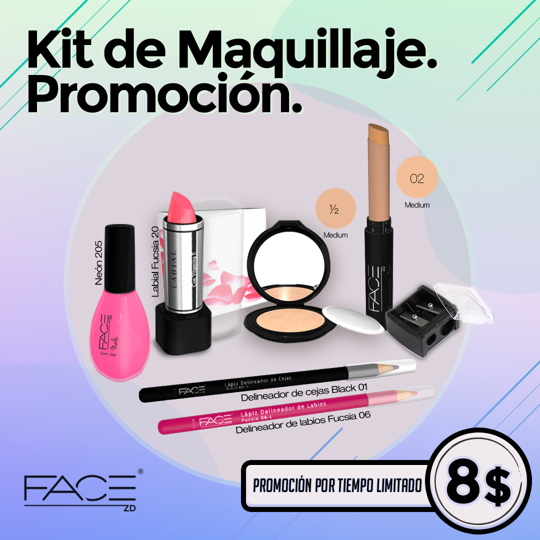 Kit de maquillaje look dulce