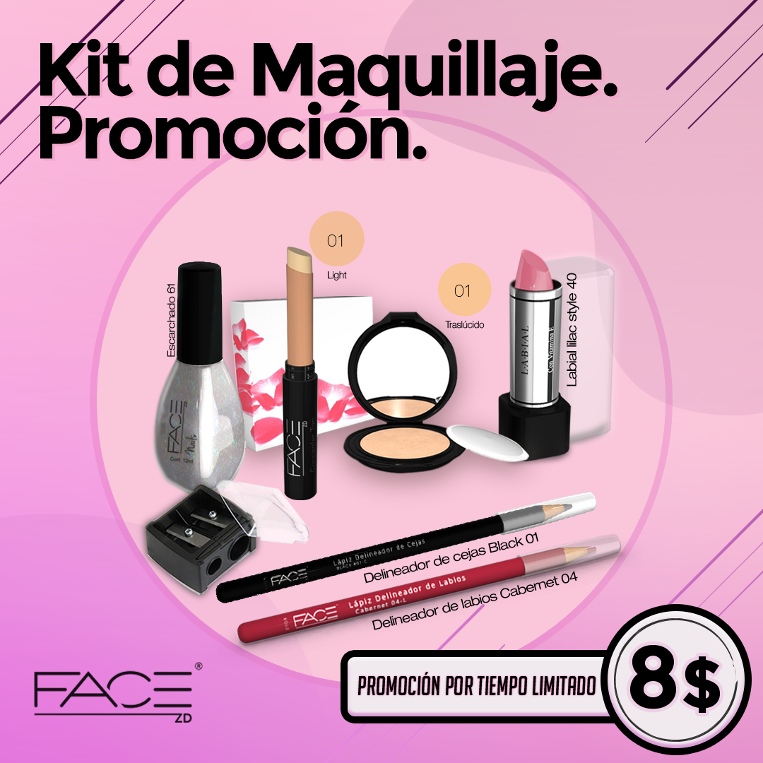 Kit de maquillaje look juvenil